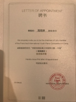 Letter of Appointment, May 2018